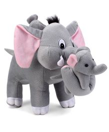 Tickles Mother Elephant With Two Babies Stuffed Soft Plush Toys - 12.5 Inches