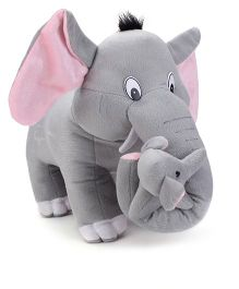 Tickles Mother Elephant With Single Baby Stuffed Soft Plush Toys - 16 Inches