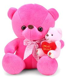 Tickles Teddy With Kid Pink - 8 Inches