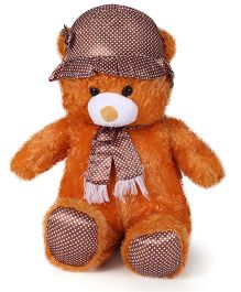 Tickles Gorgeous Cap Teddy Soft Toy Brown - 27 Inches