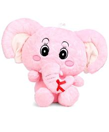 Tickles Gorgeous Big Ear Elephant Pink - 11 Inches