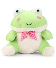 Tickles Frog Stuffed Soft Toy With Ribbon Green - 21 cm