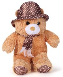 Tickles Teddy Soft Toy With Cap Brown - 17 Inches