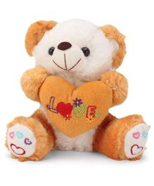 Tickles Cute Teddy With Heart Soft Toy Brown - 7 Inches