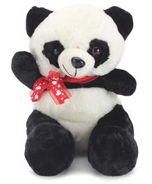 Tickles Panda With Bow Soft Toy Black And White - 26 cm