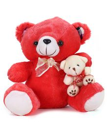 Tickles Teddy Bear With Brother In Lap Red - 11 Inches