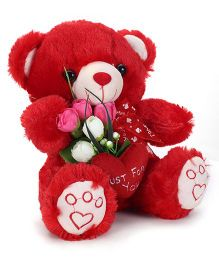 Tickles Teddy With Heart And Rose - 8 Inches