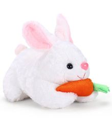 Tickles Rabbit Soft Toy With Carrot White - 10 Inches