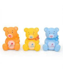 Smiles Creation Teddy Bath Toys Pack of 3 - Orange Yellow Blue