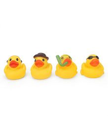 Smiles Creation Duck Bath Toys Pack of 4 - Yellow