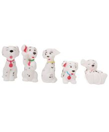 Smiles Creation Squeaky Doggies Bath Toys White - Set Of 5
