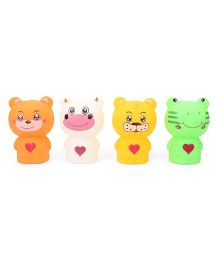 Smiles Creation Animals Bath Toys Pack of 4 - Multi color