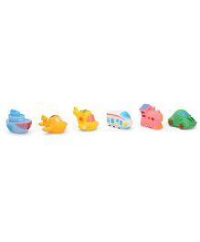 Smiles Creation Squeaky Vehicles Bath Toys Multicolor - Set of 6