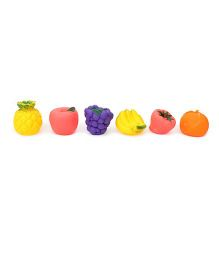 Smiles Creation Squeaky Fruits Bath Toys Multicolor - Set of 6