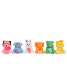 Smiles Creation Squeaky Cute Animals Bath Toys Multicolor - Set of 6