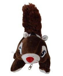 O Teddy Cute Squirrel Soft Toy Coffee Brown - 3 inches