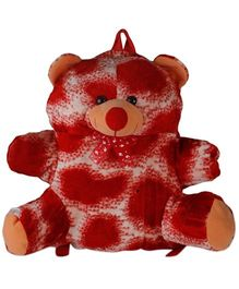 O Teddy Special Soft Toy Bag Red & White - 6 Inches