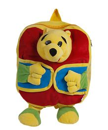O Teddy Soft Pooh Backpack - Red