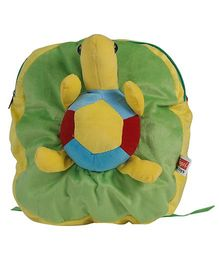 O Teddy Turtle Back Pack - Green And Yellow