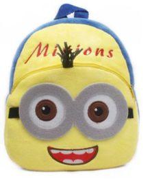 Kuhu Creation Plush Backpack Double Eye Minion Design Yellow Blue - 9 inches