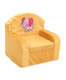 Luvely Kids Sofa Chair Elephant Embroidery - Yellow