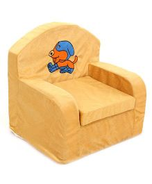 Luvely Kids Sofa Chair Puppy Embroidery - Yellow