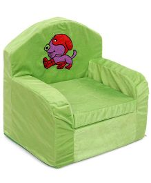Luvely Kids Sofa Chair Puppy Embroidery - Green