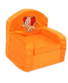 Luvely Kids Sofa Chair Elephant Embroidery - Orange