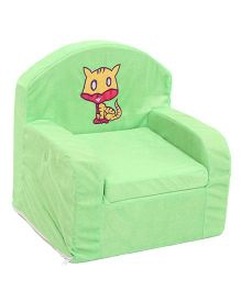 Luvely Kids Sofa Chair Kitty Embroidery - Green