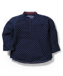 Gini & Jony Full Sleeves Printed Shirt - Navy Blue