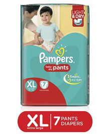 Pampers Pant Style Diapers Light And Dry Extra Large - 7 Pieces