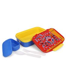 Doraemon Insulated Lunch Box - Red & Blue