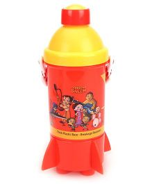 Chhota Bheem Rocket Base Water Bottle - Red & Yellow