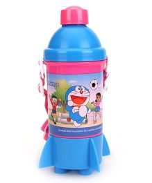 Doraemon Rocket Base Water Bottle - Pink & Blue