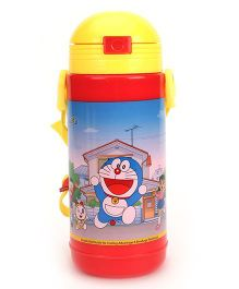 Doraemon Big Insulated Water Bottle Red & Yellow - 400 ml