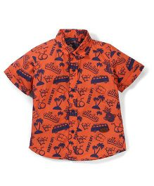 Vitamins Half Sleeves Shirt Multiprint - Orange