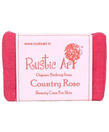 Rustic Art Organic Country Rose Soap - 100 gm