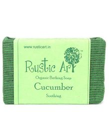 Rustic Art Organic Cucumber Soap - 100 gm