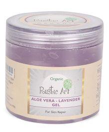 Rustic Art Organic Aloe Vera Lavender Gel - 100 gm