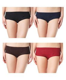 Adira Cotton Period Panty Boxer Combo Multicolor - Pack of 4