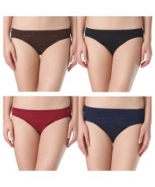 Adira Cotton Period Panty Hipster Combo Multicolor - Pack of 4