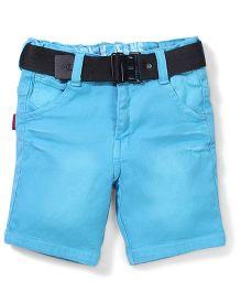 Spark Shorts With Belt  - Sky Blue