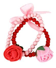 D'chica Two String Bracelet Jewelry For Kids - Red & Pink