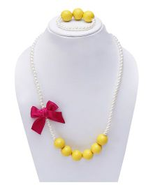 D'chica Bubblegum Love Necklace & Bracelet Set - Yellow