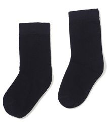 Cute Walk by Babyhug Cotton Solid Color Socks - Black