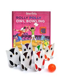 Smartivity Rolly Polly Owl Bowling - Multicolor