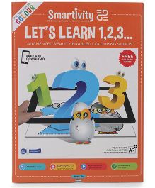 Smartivity Edge Let's Learn 123 Coloring Sheets - Orange