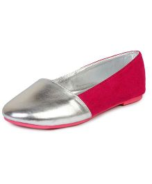 Beanz Belly Shoes - Pink Silver
