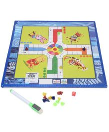 Prasima Toys 2 In 1 Writing Cum Game Board - White Blue