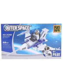 Fun Blox Outer Space Blocks Set Multicolor - 58 Pieces